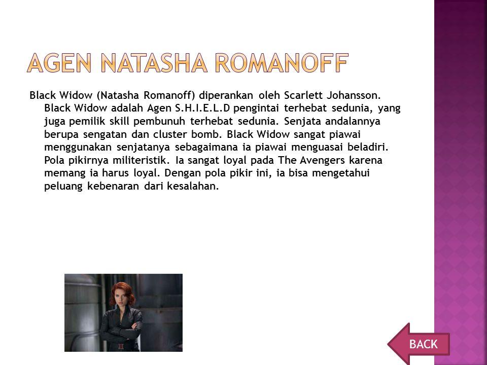 Agen natasha Romanoff BACK