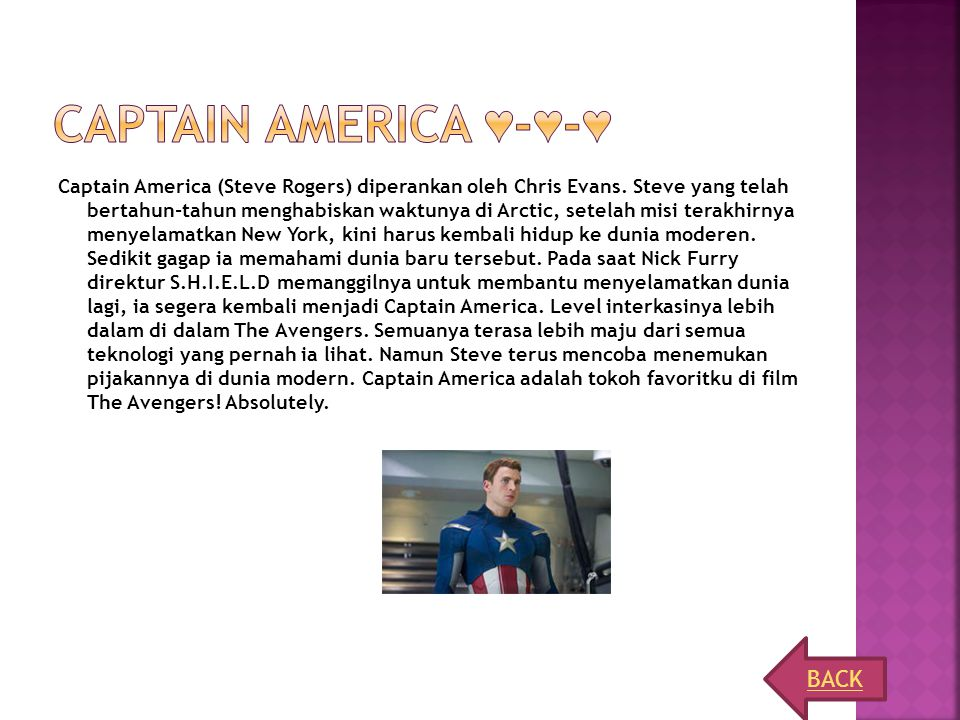 Captain America ♥-♥-♥ BACK