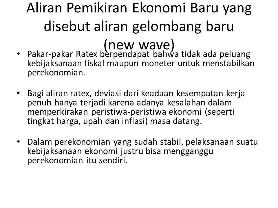 Aliran Pemikiran Ekonomi Baru yang disebut aliran gelombang baru (new wave)