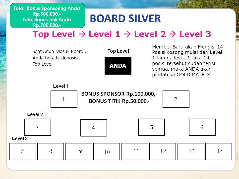 BOARD SILVER Top Level  Level 1  Level 2  Level 3