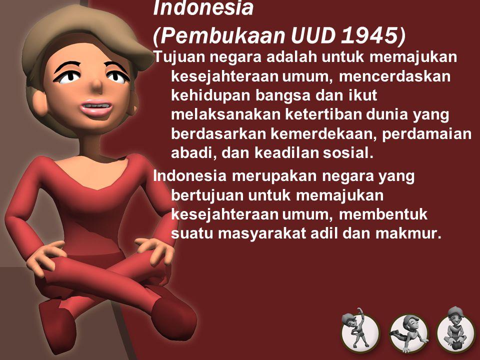 Indonesia (Pembukaan UUD 1945)