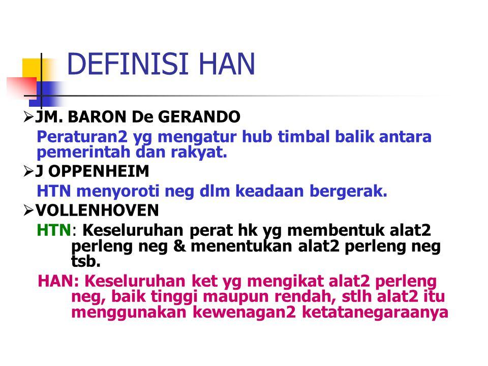 DEFINISI HAN JM. BARON De GERANDO
