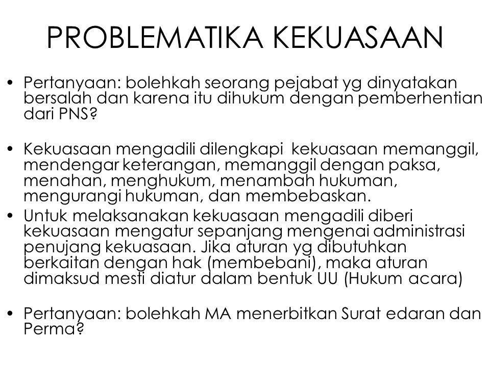 PROBLEMATIKA KEKUASAAN