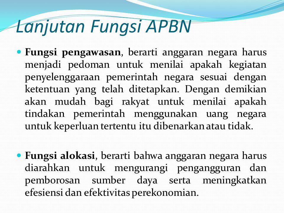 Lanjutan Fungsi APBN