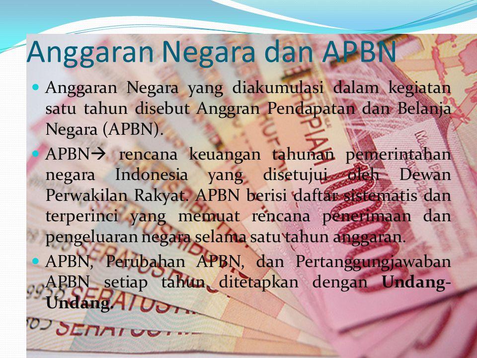 Anggaran Negara dan APBN