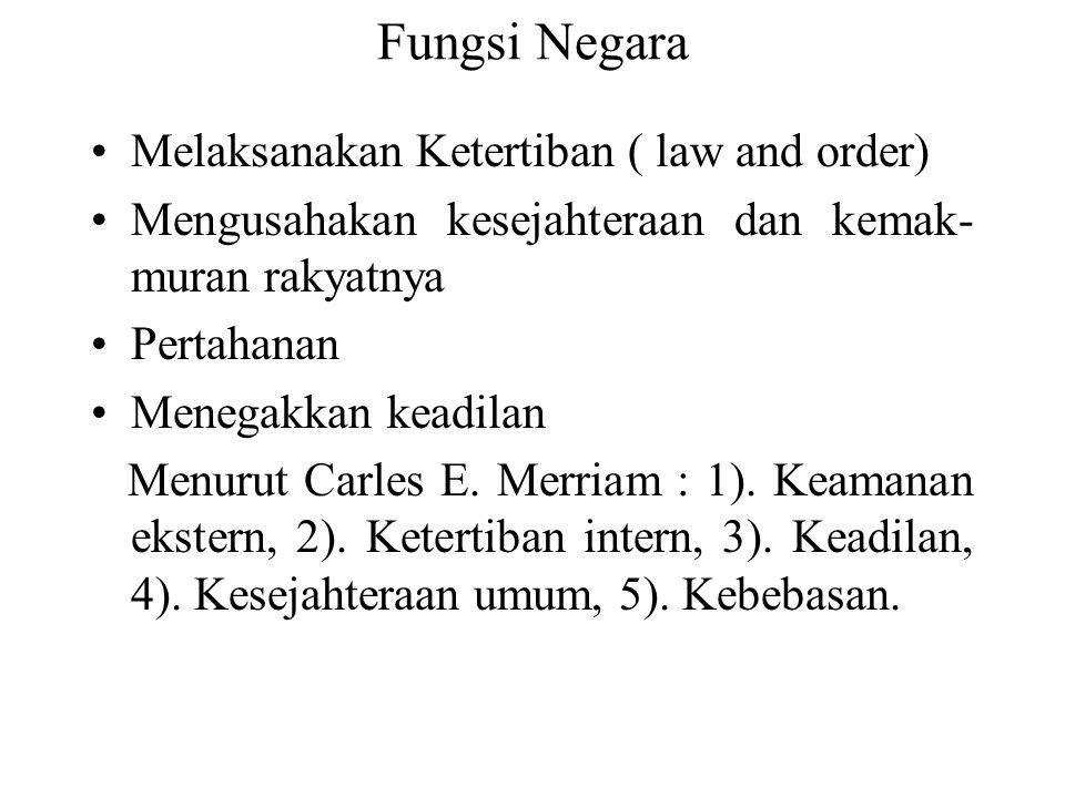Fungsi Negara Melaksanakan Ketertiban ( law and order)