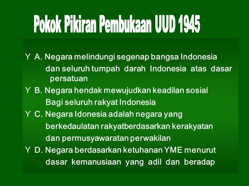 Pokok Pikiran Pembukaan UUD 1945