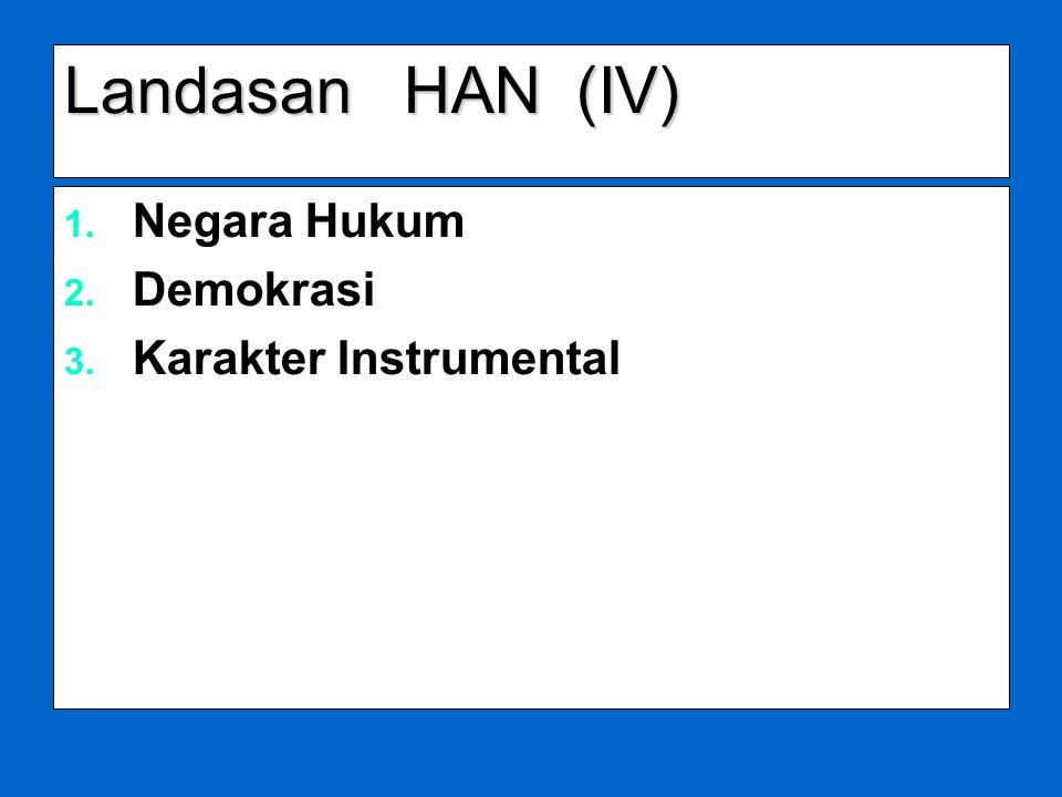 Landasan HAN (IV) Negara Hukum Demokrasi Karakter Instrumental
