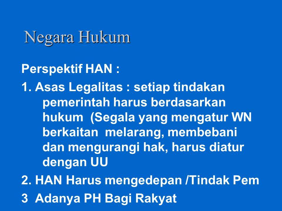 Negara Hukum Perspektif HAN :