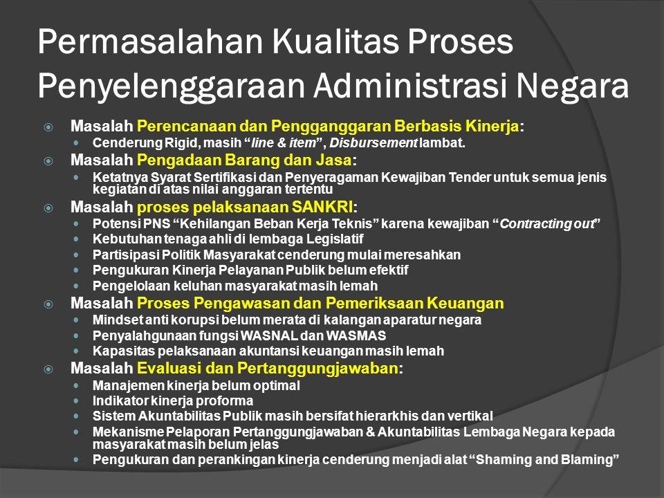 Permasalahan Kualitas Proses Penyelenggaraan Administrasi Negara