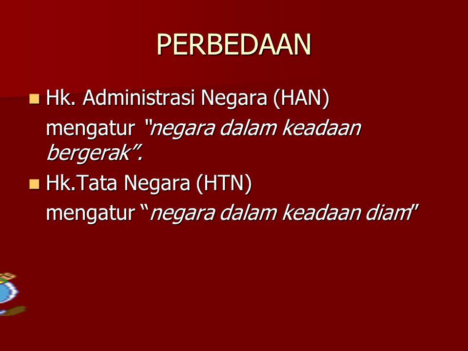 PERBEDAAN Hk. Administrasi Negara (HAN)