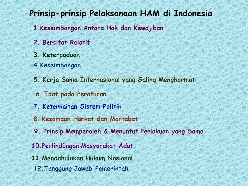 Prinsip-prinsip Pelaksanaan HAM di Indonesia