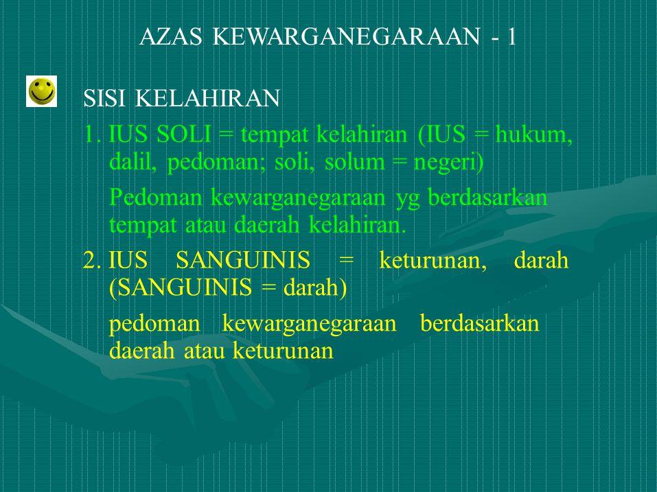 AZAS KEWARGANEGARAAN - 1