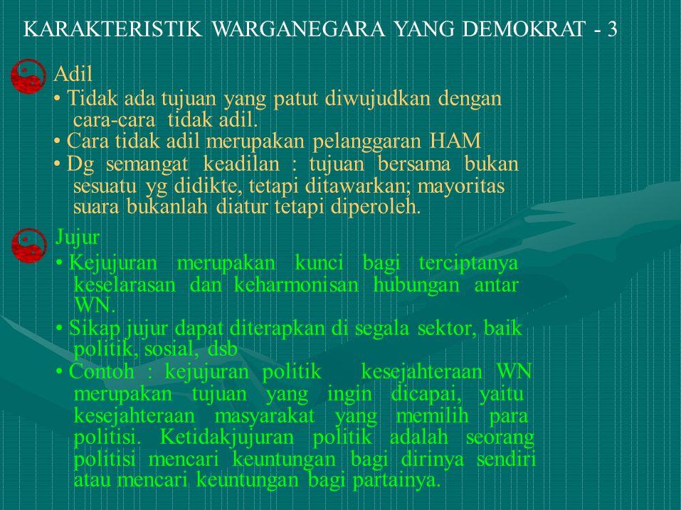 KARAKTERISTIK WARGANEGARA YANG DEMOKRAT - 3