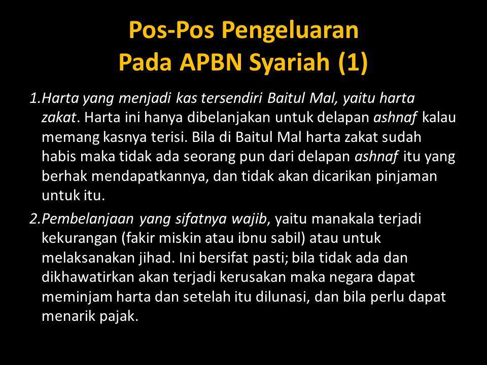 Pos-Pos Pengeluaran Pada APBN Syariah (1)