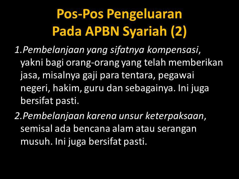 Pos-Pos Pengeluaran Pada APBN Syariah (2)