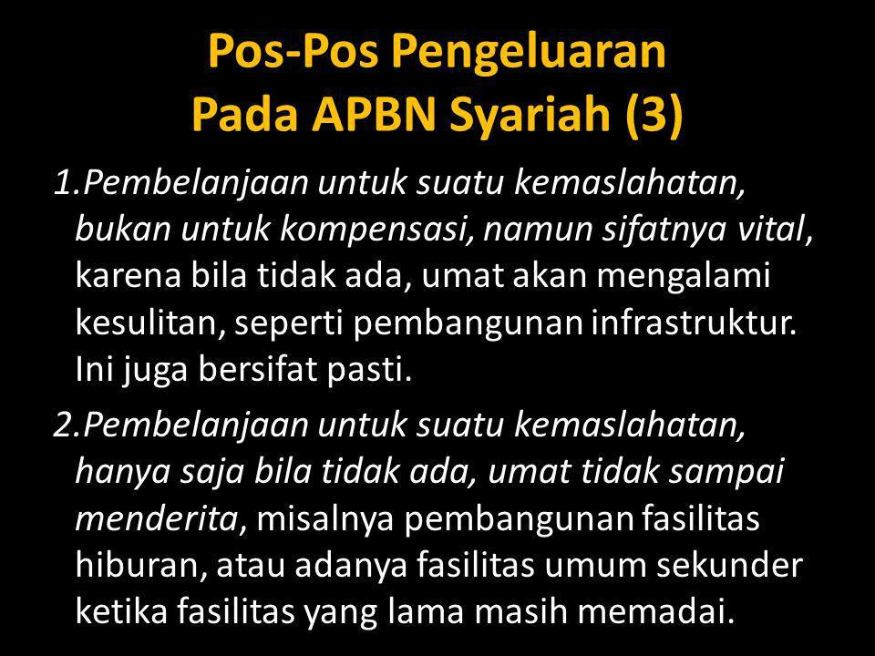 Pos-Pos Pengeluaran Pada APBN Syariah (3)