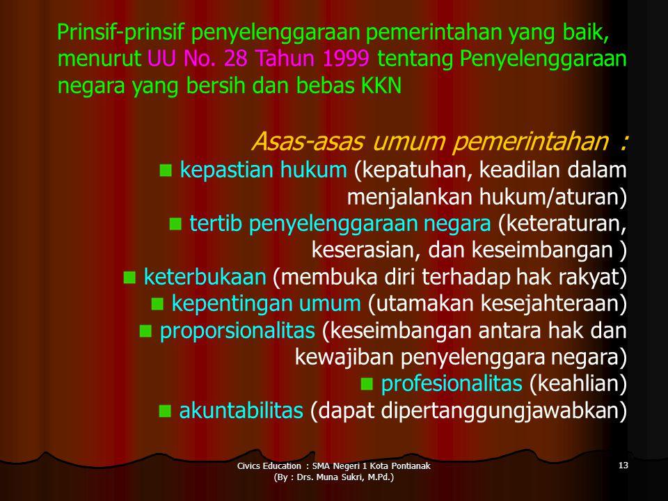 Asas-asas umum pemerintahan :