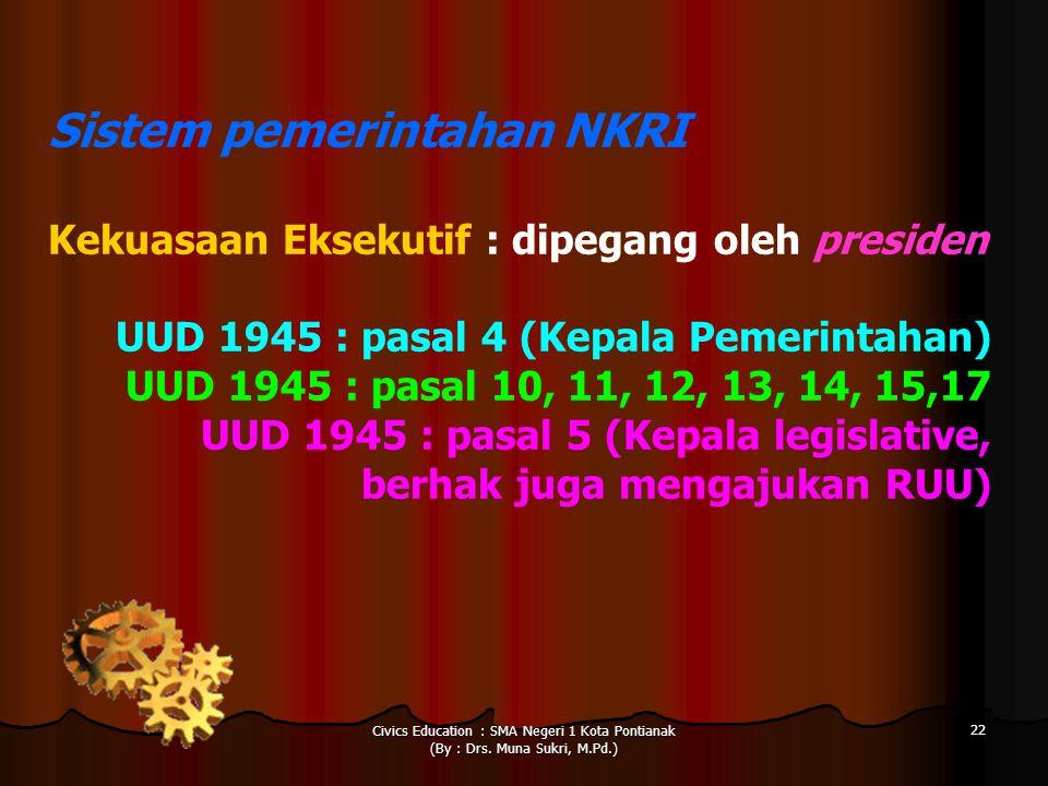 Sistem pemerintahan NKRI