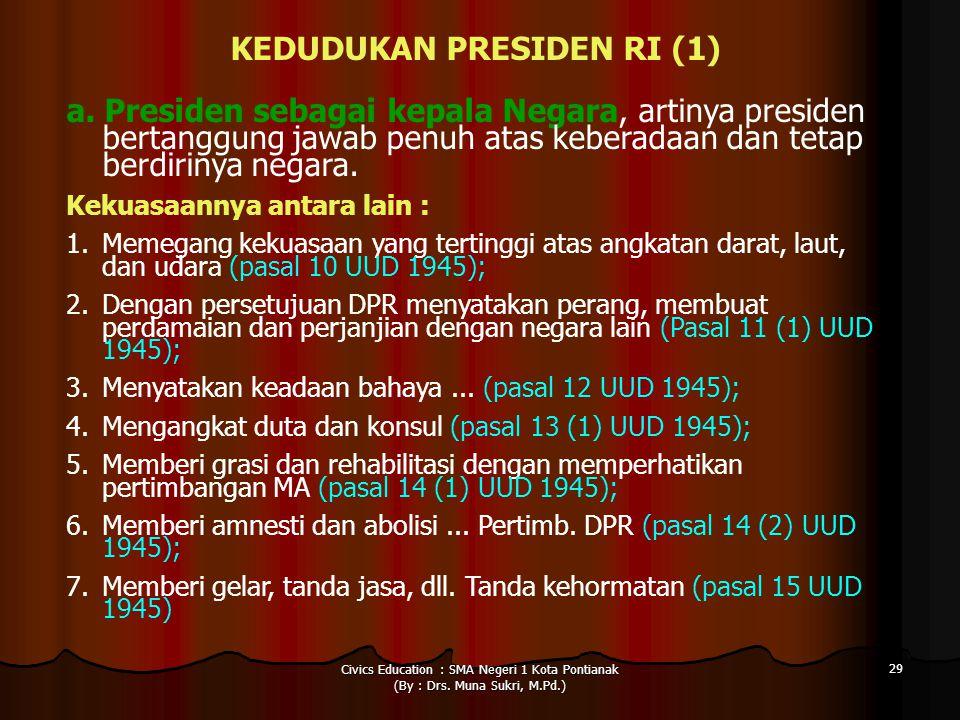 KEDUDUKAN PRESIDEN RI (1)