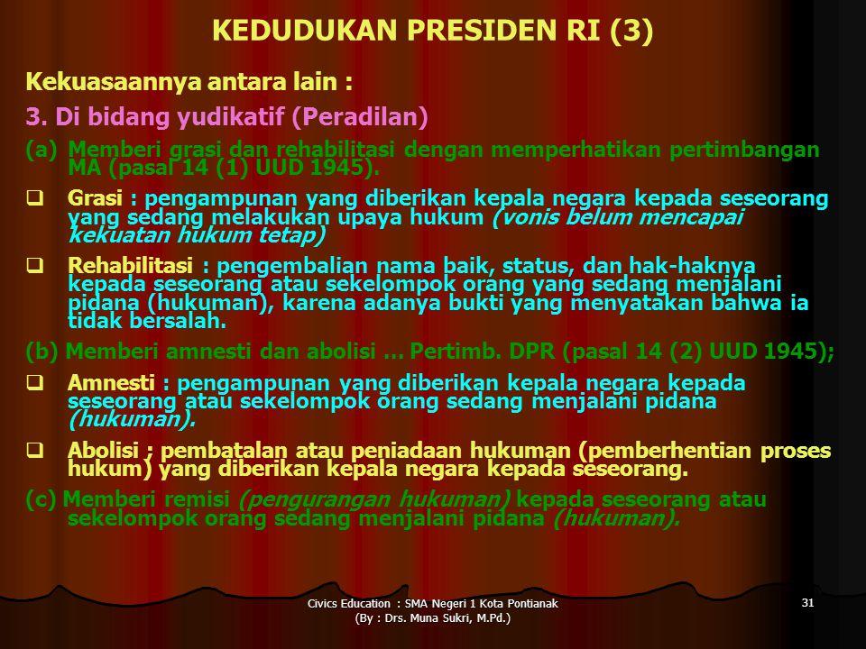 KEDUDUKAN PRESIDEN RI (3)