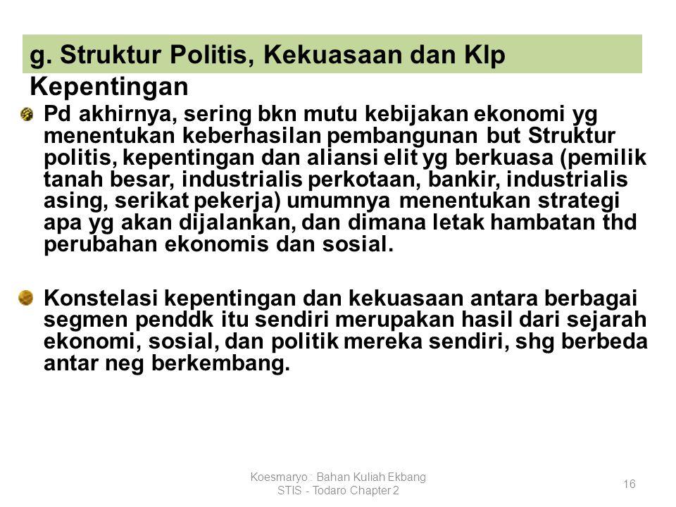 Koesmaryo : Bahan Kuliah Ekbang STIS - Todaro Chapter 2
