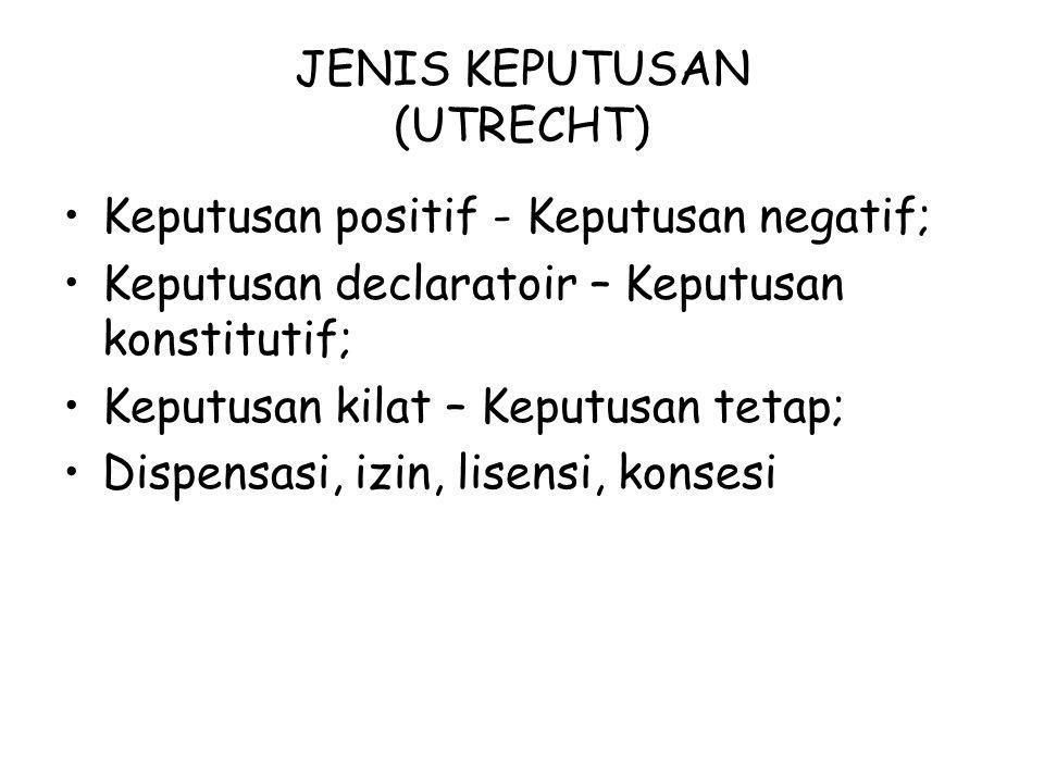 JENIS KEPUTUSAN (UTRECHT)