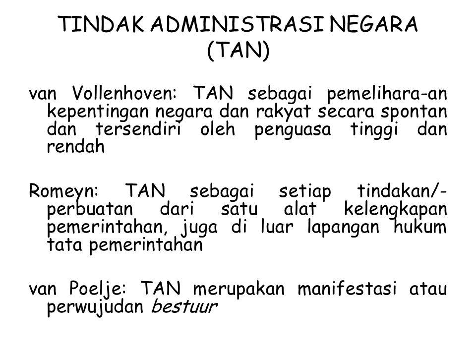 TINDAK ADMINISTRASI NEGARA (TAN)