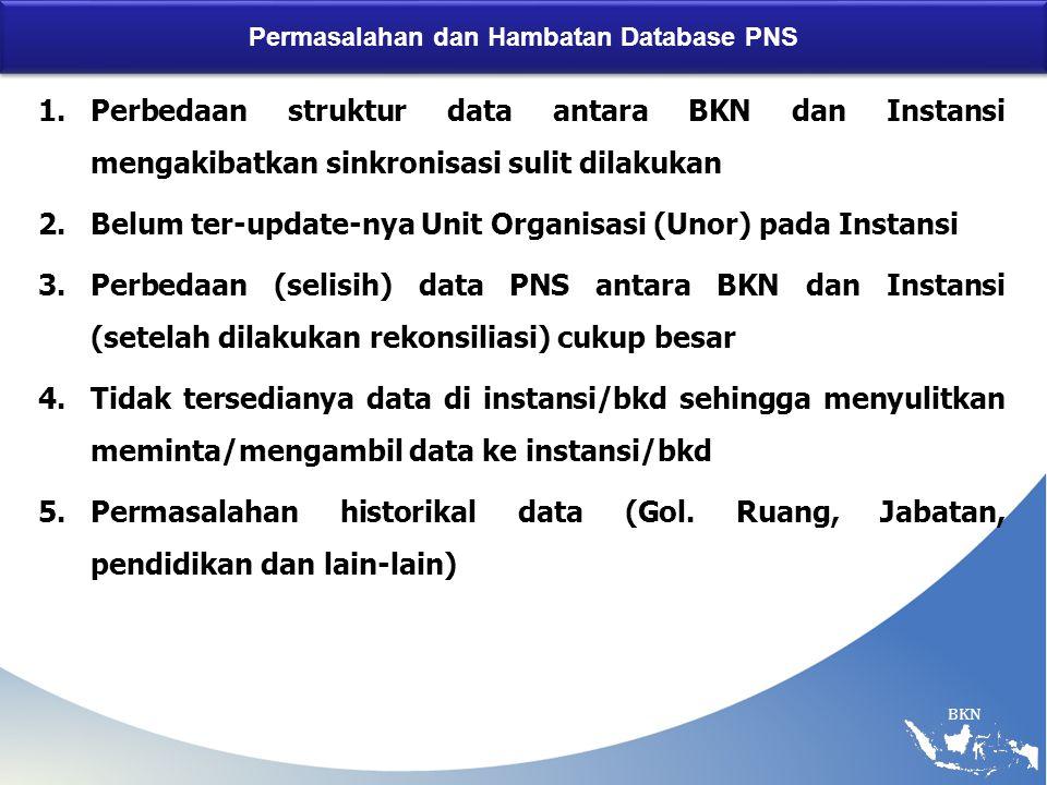 Permasalahan dan Hambatan Database PNS