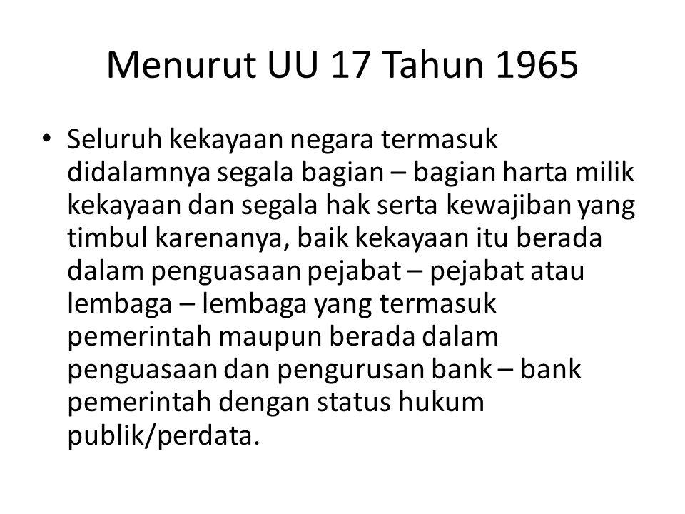 Menurut UU 17 Tahun 1965