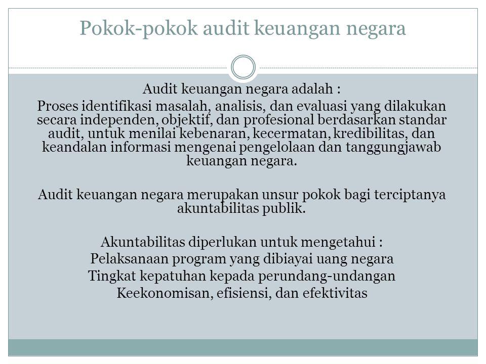Pokok-pokok audit keuangan negara