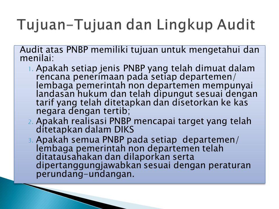 Tujuan-Tujuan dan Lingkup Audit