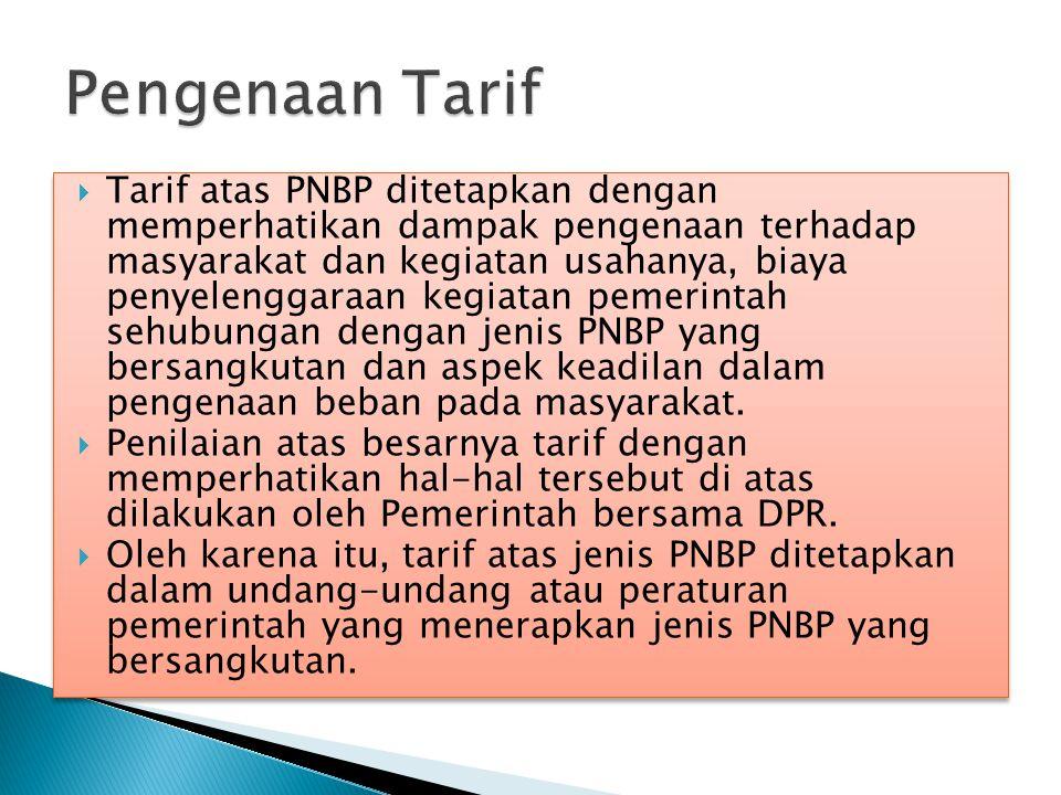 Pengenaan Tarif