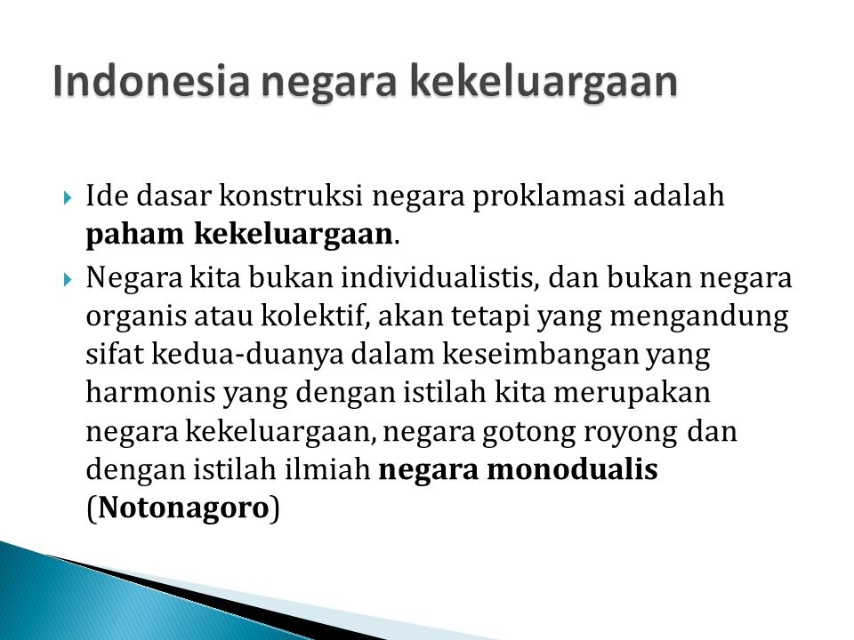 Indonesia negara kekeluargaan