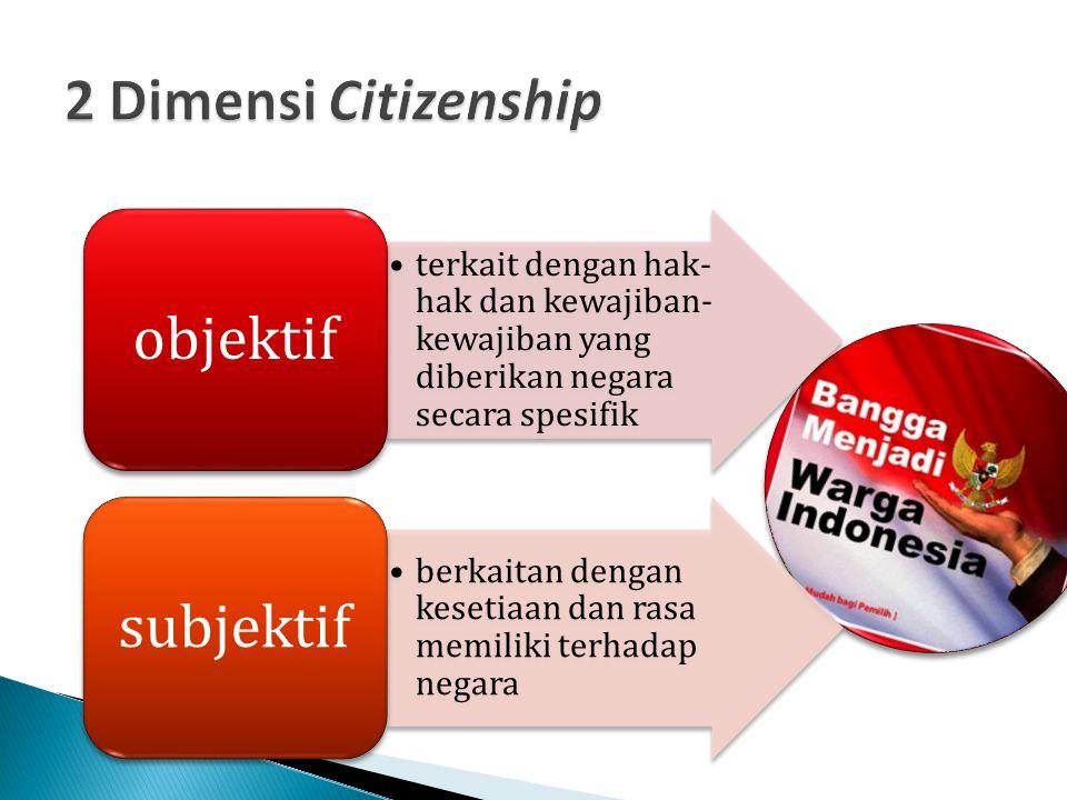 2 Dimensi Citizenship objektif