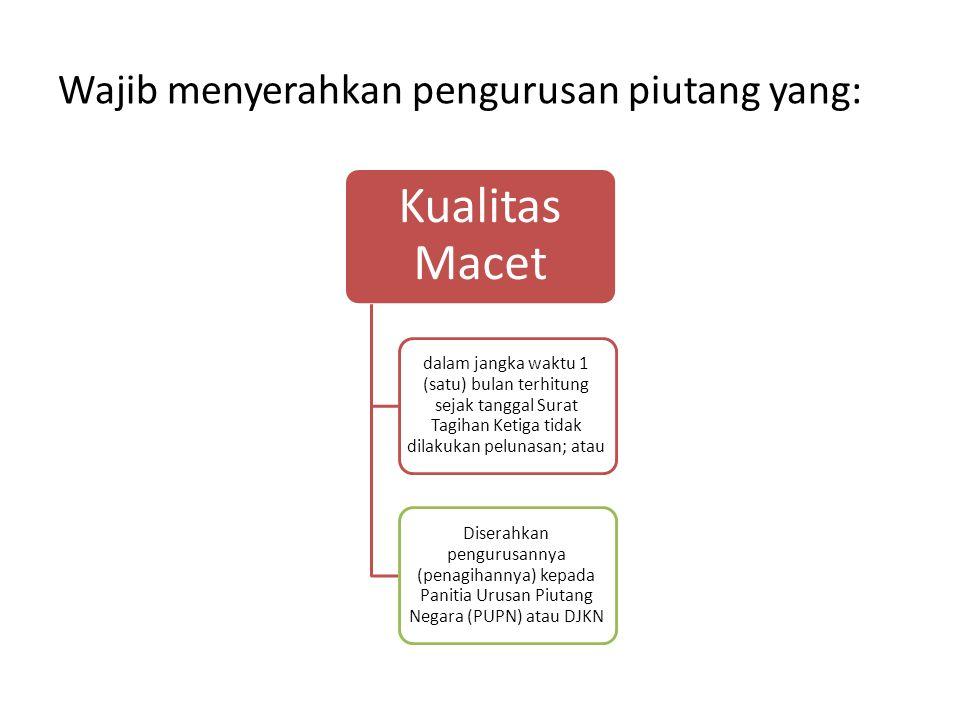 Wajib menyerahkan pengurusan piutang yang: