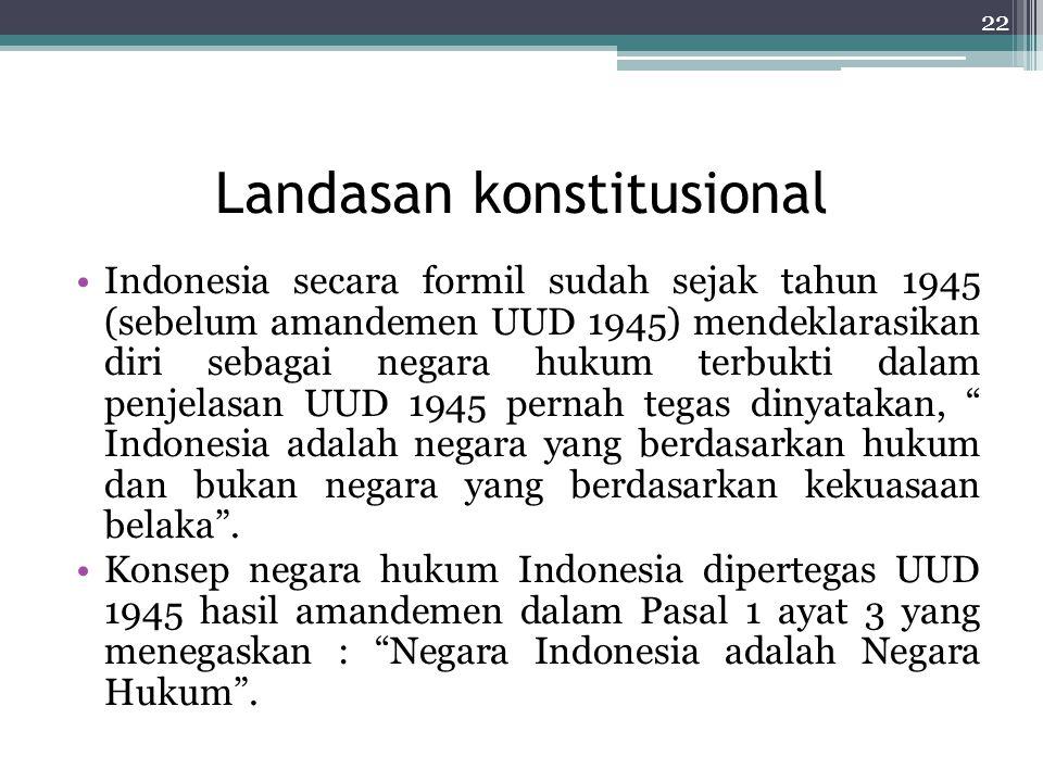 Landasan konstitusional