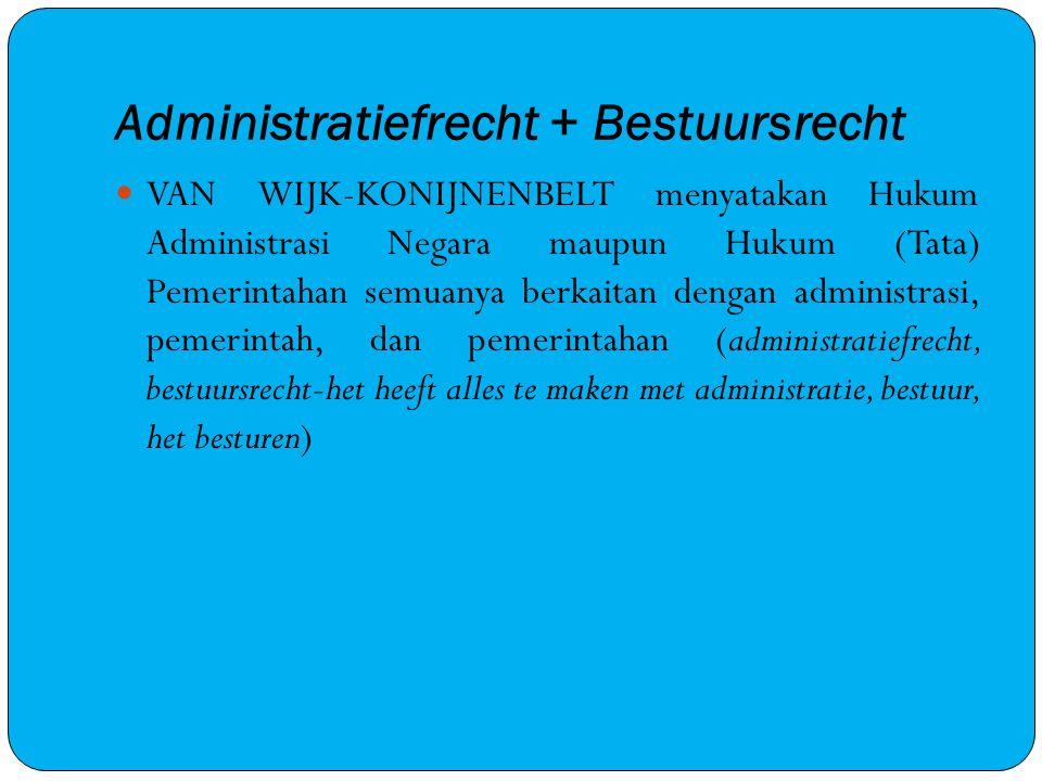 Administratiefrecht + Bestuursrecht