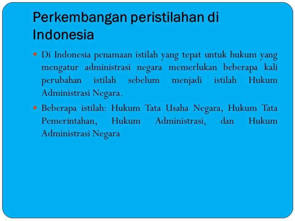 Perkembangan peristilahan di Indonesia