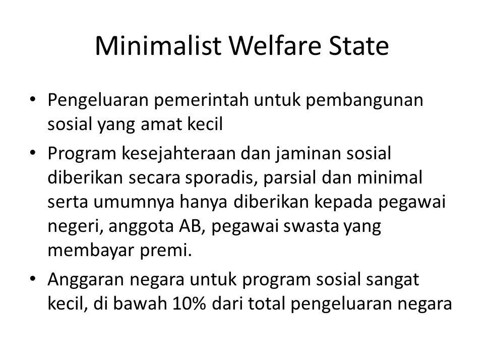 Minimalist Welfare State
