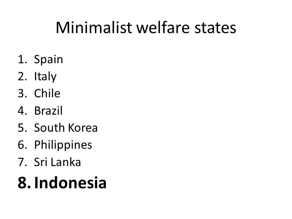 Minimalist welfare states