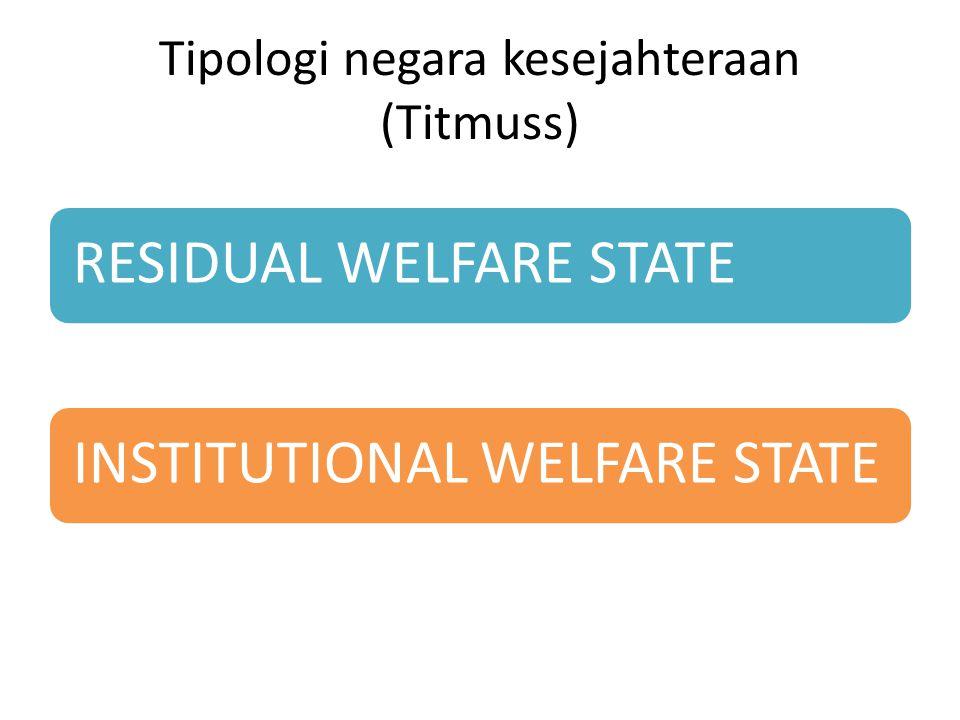 Tipologi negara kesejahteraan (Titmuss)