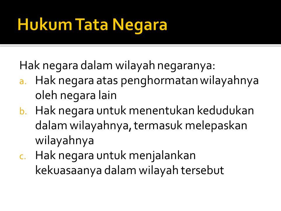 Hukum Tata Negara Hak negara dalam wilayah negaranya: