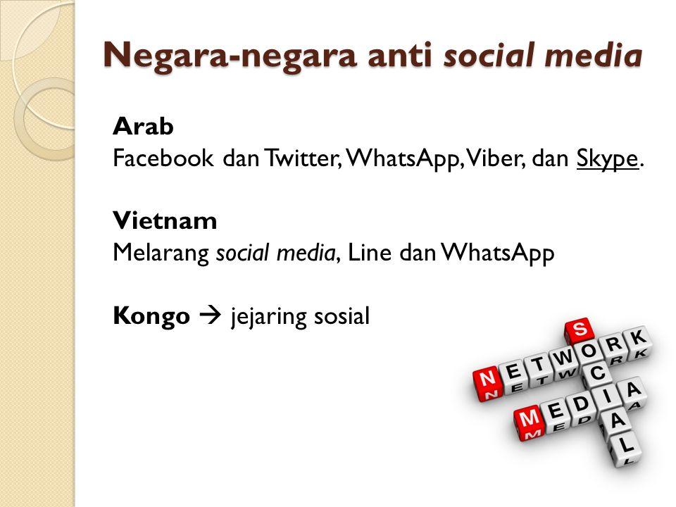 Negara-negara anti social media