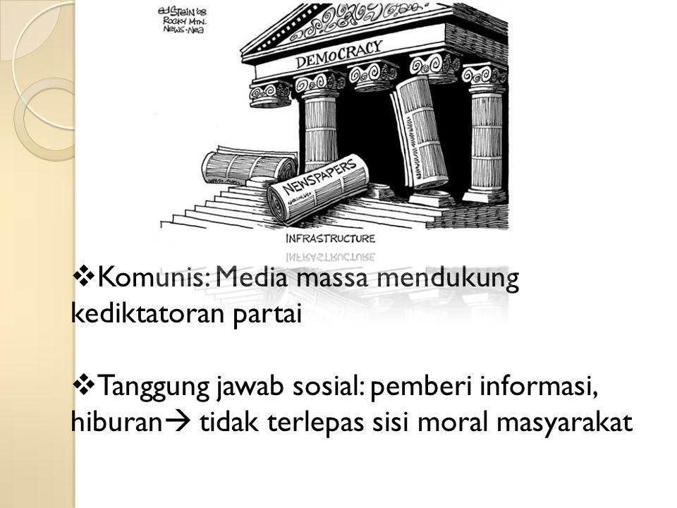 Komunis: Media massa mendukung kediktatoran partai