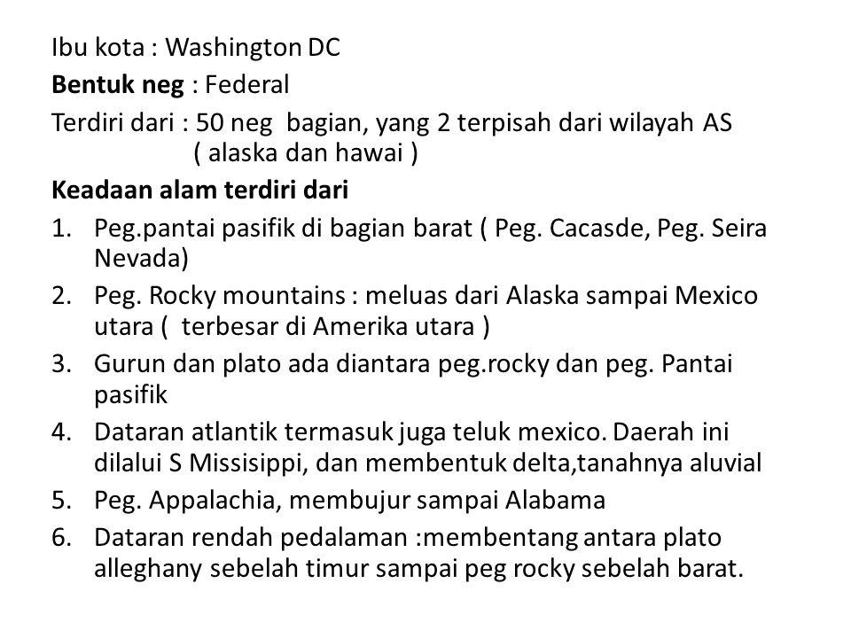 Ibu kota : Washington DC