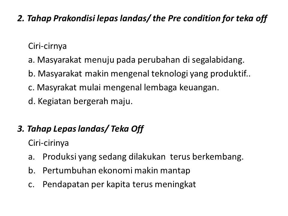 2. Tahap Prakondisi lepas landas/ the Pre condition for teka off