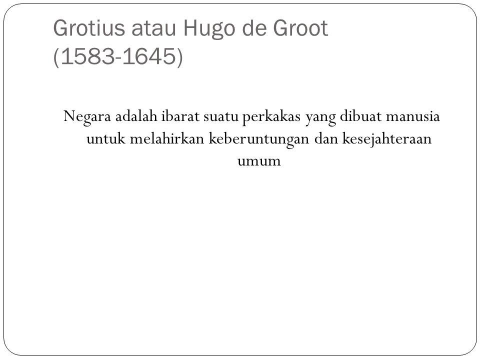 Grotius atau Hugo de Groot (1583-1645)