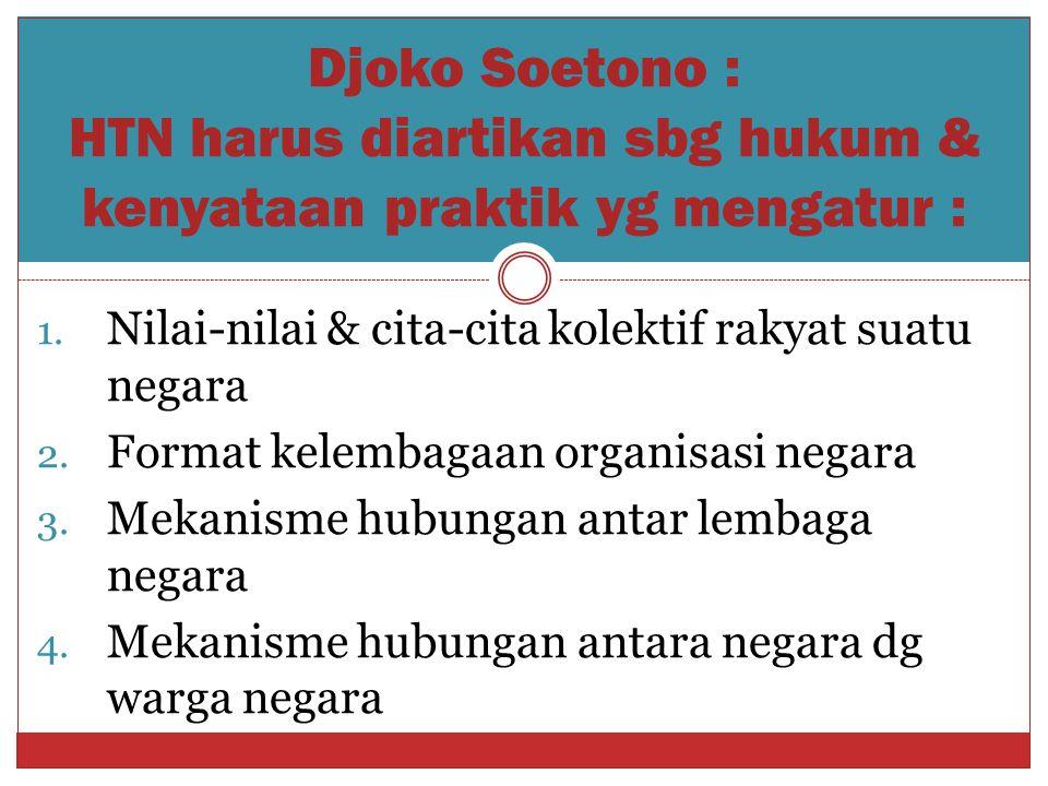 Djoko Soetono : HTN harus diartikan sbg hukum & kenyataan praktik yg mengatur :