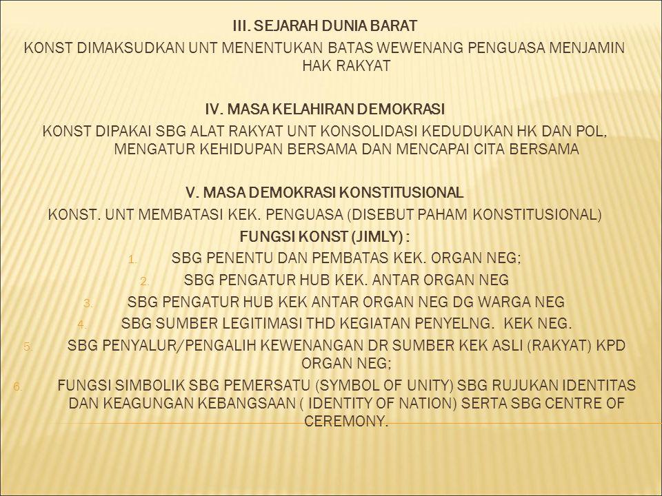 III. SEJARAH DUNIA BARAT